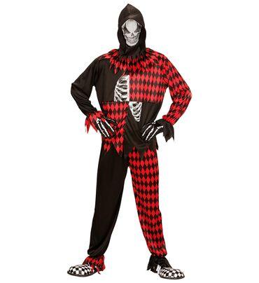 Böser Hofnarr-Anzug Horror-Clown – Bild 4