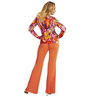 Groovy 70's Bluse Orchideen – Bild 3