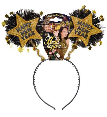 Haarreif Happy New Year gold – Bild 1