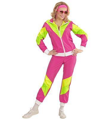 80er Jahre Trainingsanzug pink – Bild 5