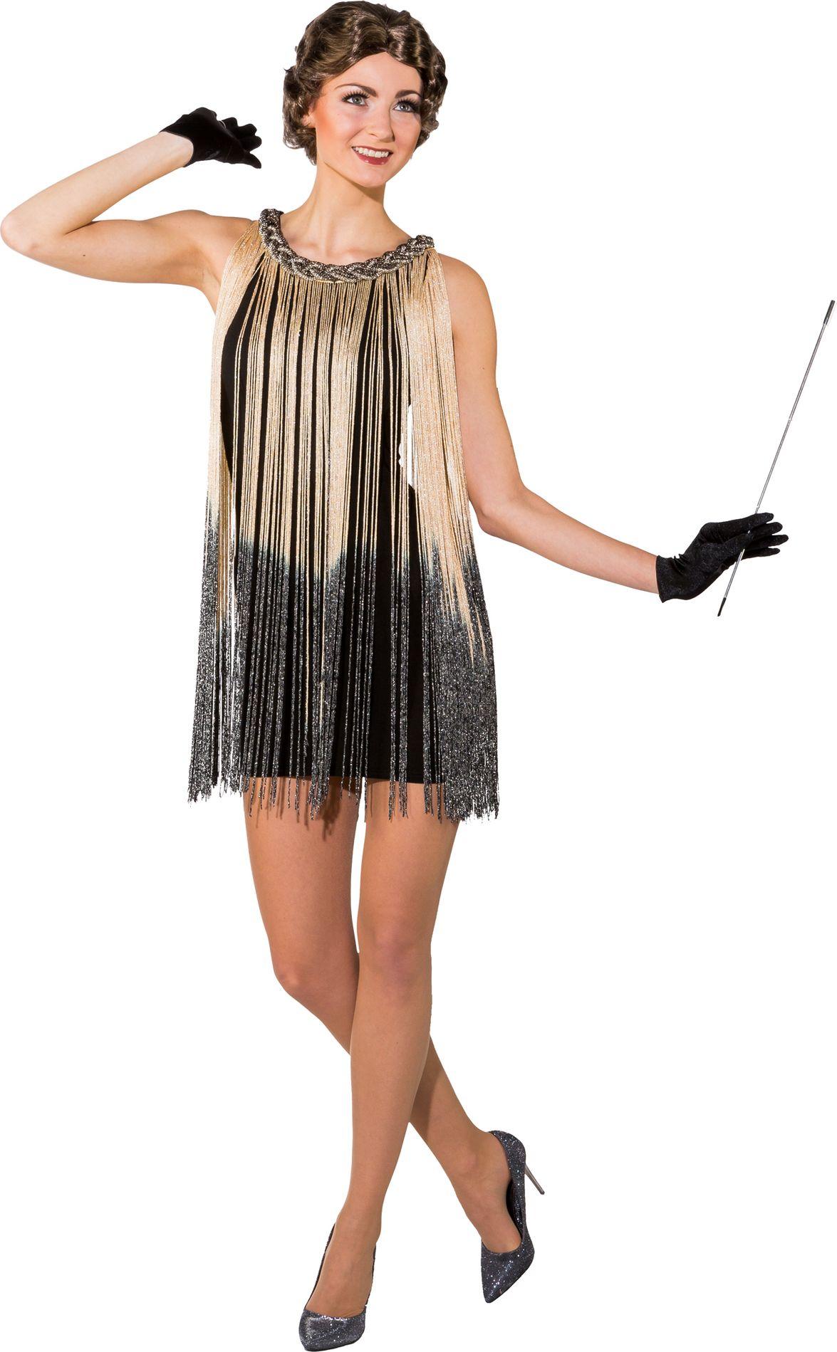 Kleid 20er Fransen beige bei Party Schlaudt Wiesbaden kaufen