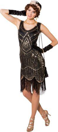 Pailletten-Kleid 20er mit Fransen Charleston – Bild 1