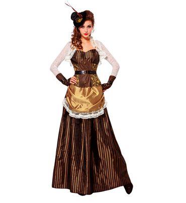 Steampunk-Kleid mit Hütchen