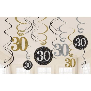 Swirldeko-Set Sparkling gold 30