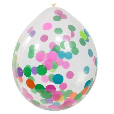 4 Ballons mit Konfetti bunt