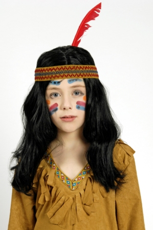 Kinder-Perücke Indianer – Bild 1