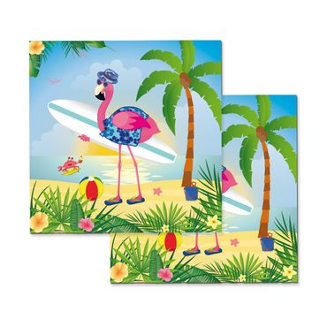 20 Servietten Flamingo