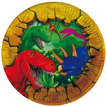 8 Teller Dinosaurier