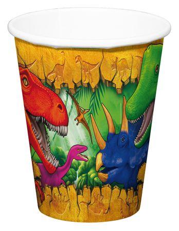 6 Becher Dinosaurier