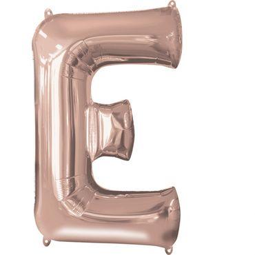 Folienballon Buchstabe E rose-gold - 88cm
