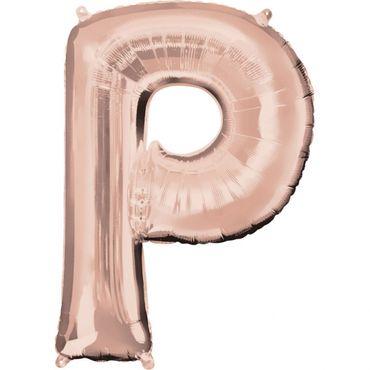 Folienballon Buchstabe P rose-gold - 88cm
