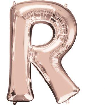 Folienballon Buchstabe R rose-gold - 88cm
