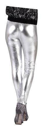 Glanz-Leggings silber