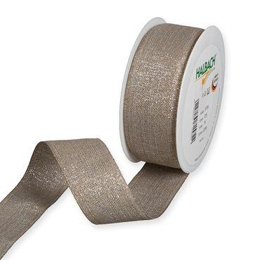 Lurexband 20m natur-silber