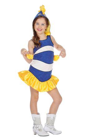 Kleid Tropischer Fisch blau – Bild 1