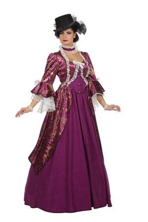 Marquise-Kleid violett – Bild 1