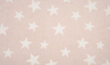 Fleece Sterne hellrosa-weiß
