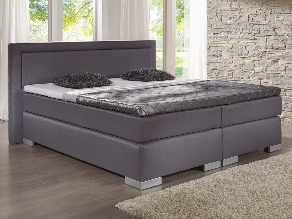 boxspringbett champion 180x200 cm topper stoff flachgewebe. Black Bedroom Furniture Sets. Home Design Ideas