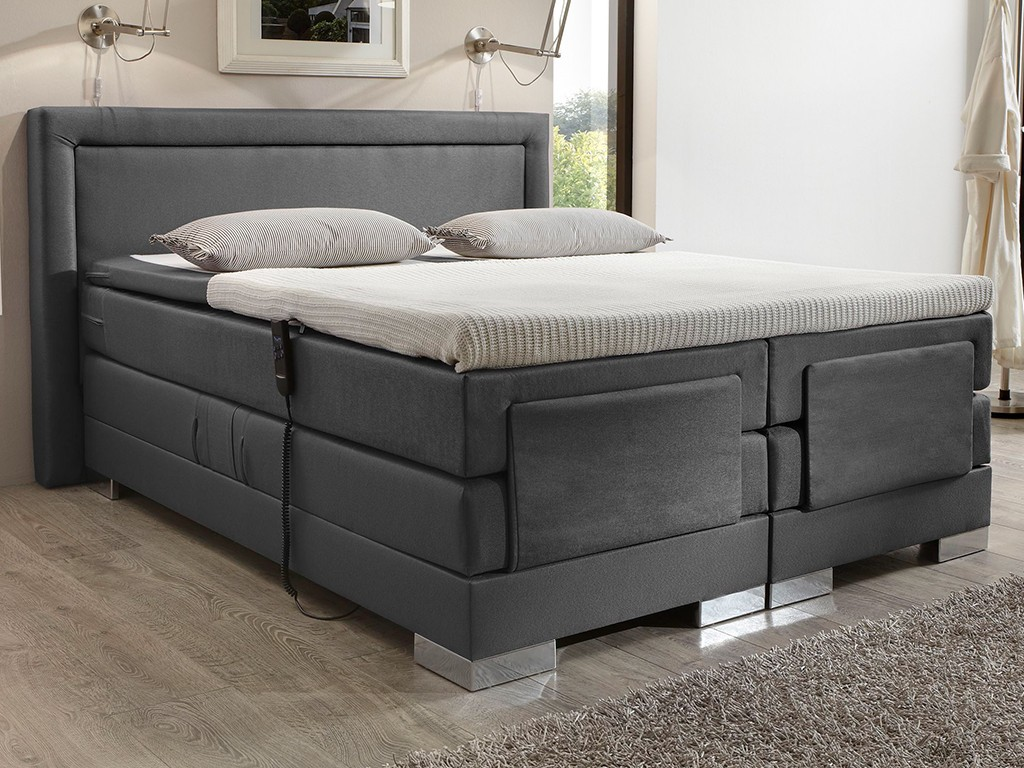 boxspringbett champion 180x200 cm topper elektrisch stoff. Black Bedroom Furniture Sets. Home Design Ideas
