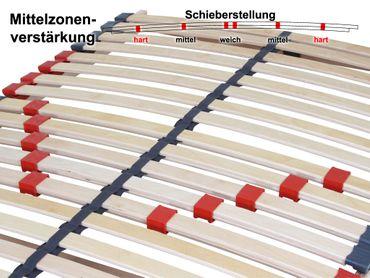 7 Zonen Lattenrost Lattenrahmen Max 2 140x200 cm NV nicht verstellbar – Bild 2