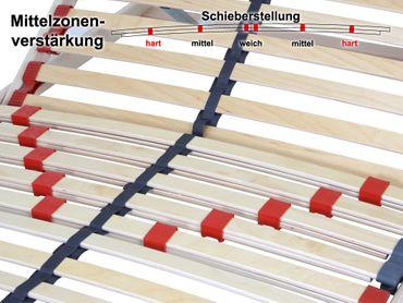 7 Zonen Lattenrost Lattenrahmen Lux 1 90x200 cm KV Kopfteil verstellbar – Bild 2