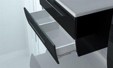 4tlg. Badmöbel Set Milano 120 cm Schwarz Hochglanz – Bild 4