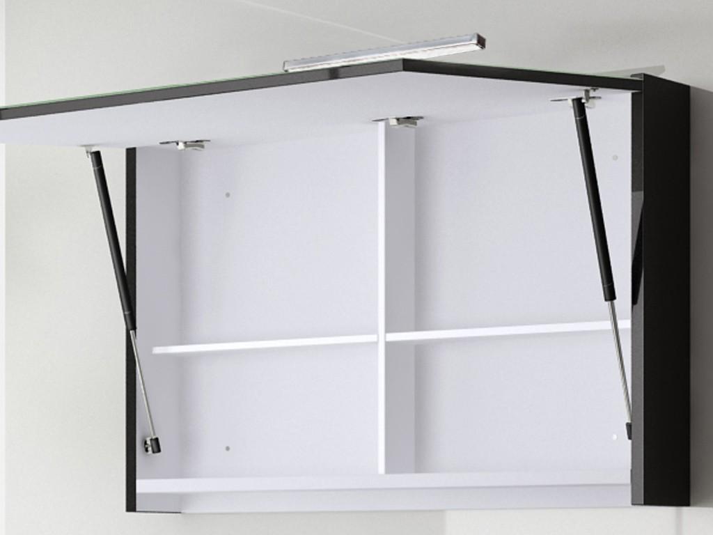spiegelschrank palma 120 cm schwarz hochglanz bad. Black Bedroom Furniture Sets. Home Design Ideas