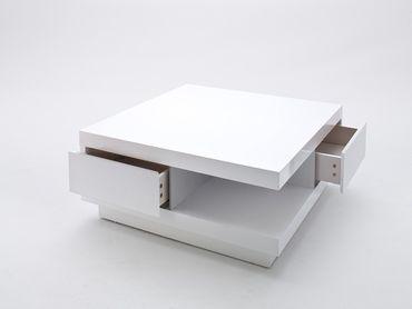 MCA Furniture Couchtisch Abby Weiß, 85 cmx85 cmx30 cm, 58207WW4 – Bild 2
