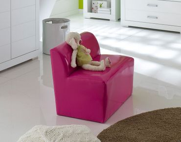 Kinderbank Mini Kunstleder Pink