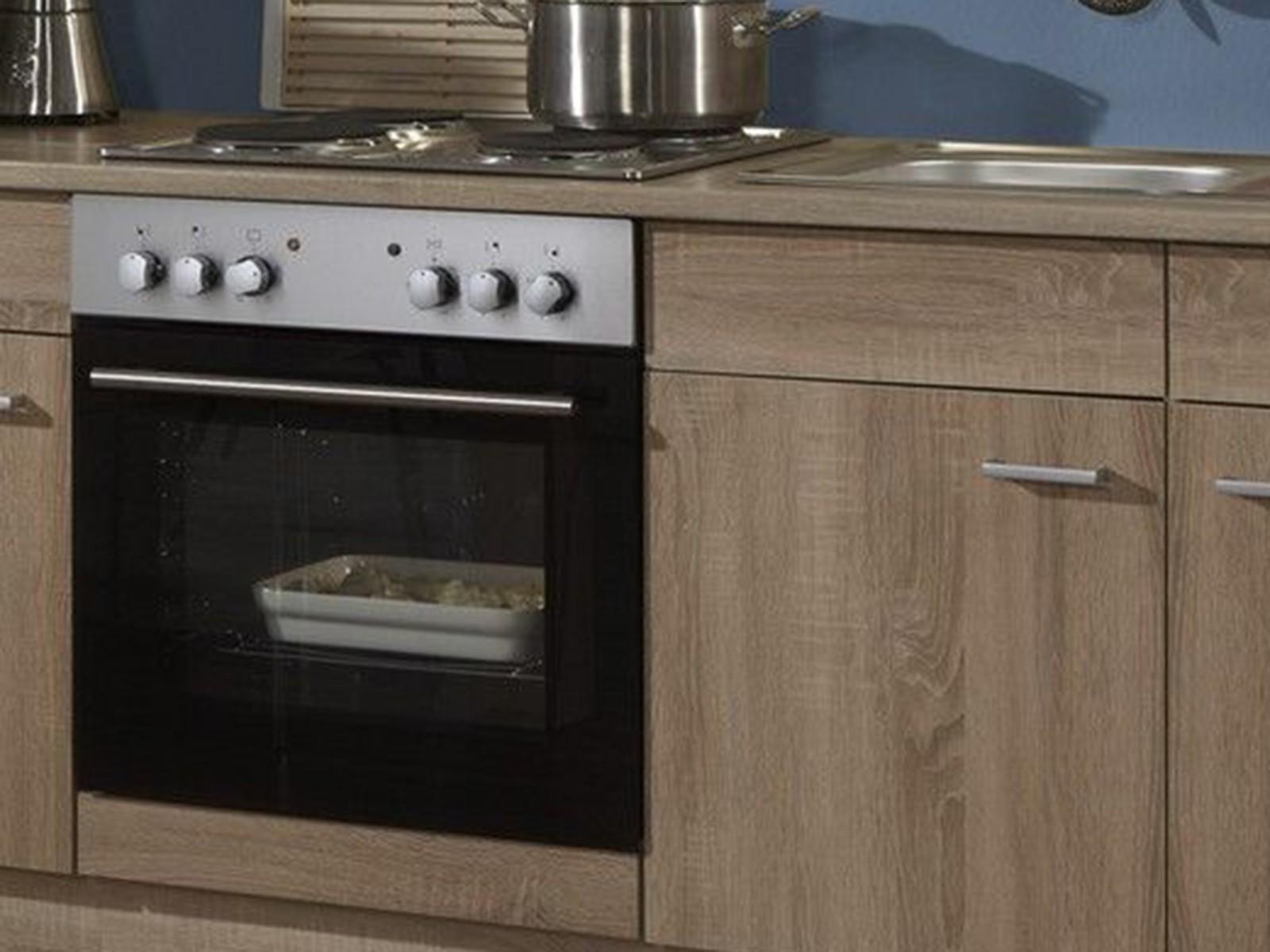 Einbauküche küche sonea inkl. e geräte eiche 270 cm küche komplett ...