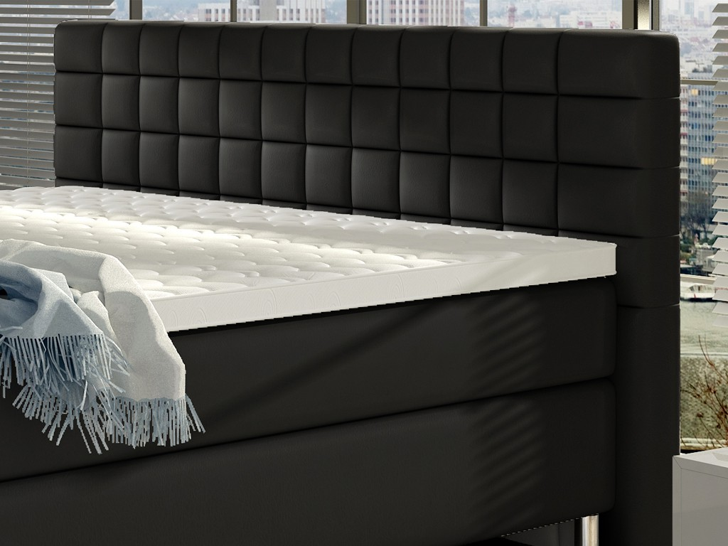 boxspringbett venedig 180x200 cm webstoff schwarz schlafen. Black Bedroom Furniture Sets. Home Design Ideas
