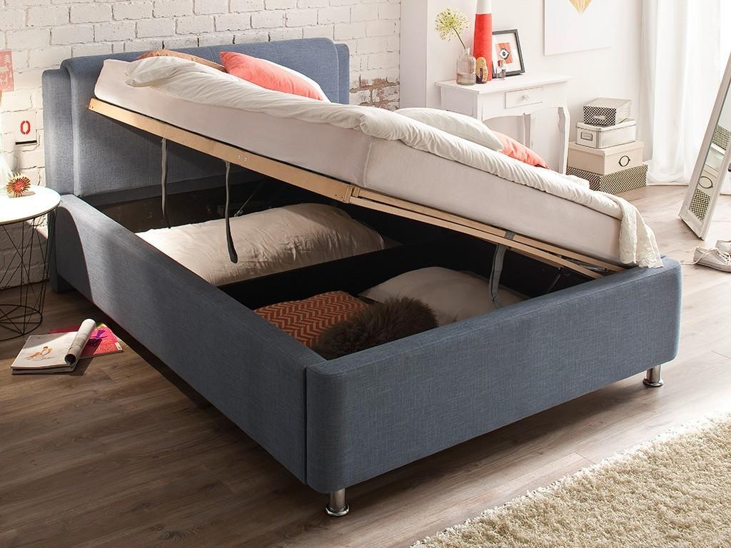 polsterbett el paso mit stoffbezug culture braun 140x200 cm inkl bettkasten und lattenrost. Black Bedroom Furniture Sets. Home Design Ideas