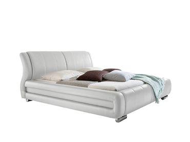 polsterbett bolzano weiss 160x200 cm kunstlederbezug schlafen polsterbetten. Black Bedroom Furniture Sets. Home Design Ideas