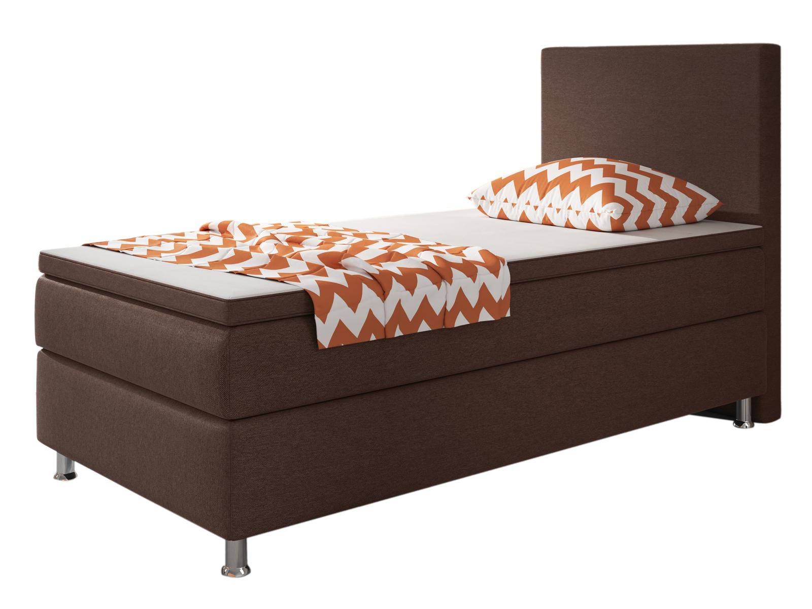 boxspringbett berlin bett hotelbett designerbett 90x200 cm webstoff braun 4260465765920 ebay. Black Bedroom Furniture Sets. Home Design Ideas