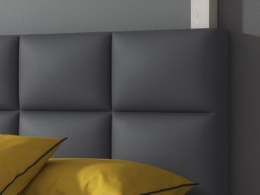 Boxspringbett Miami 140x200 cm Kunstleder Anthrazit – Bild 3