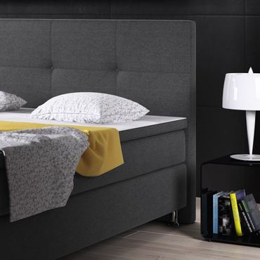 Boxspringbett Dallas 180x200 Webstoff Anthrazit – Bild 4