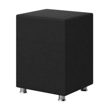 Nachttisch Hocker Kara Würfel Cube schwarz 40x40x60 Webstoff – Bild 1