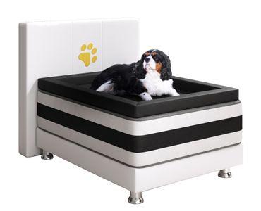 Boxspringbett Doggy 65x85 cm weiss Hundebett – Bild 2