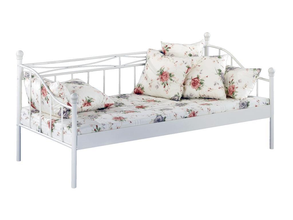 tagesbett linda wei lackiert schlafen bettrahmen. Black Bedroom Furniture Sets. Home Design Ideas