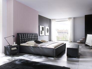 Bettbank Paso Bank Schwarz 120x43x45 cm – Bild 3