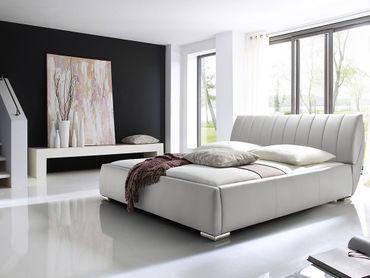 Polsterbett Bern 200x200 cm weiß – Bild 2
