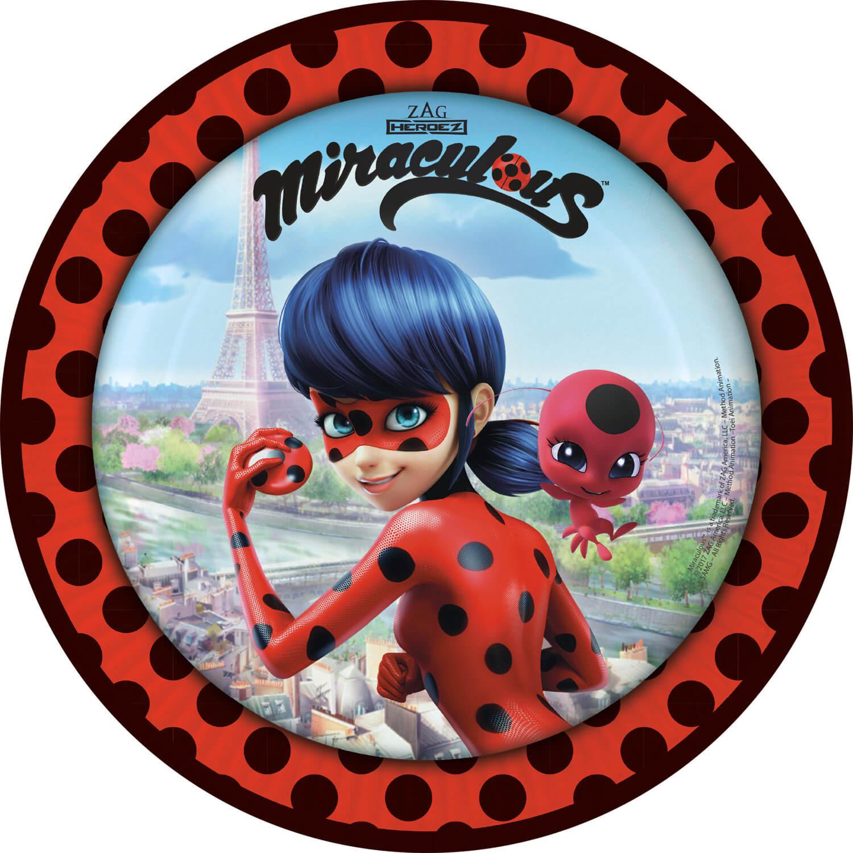 Miraculous Ladybug partyset plato vaso servilletas vajilla desechable vajilla set