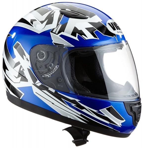 Kinder Integral Motorradhelm SA-03-BL blau