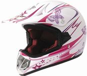 Kinder Crosshelm Enduro Girl pink  001