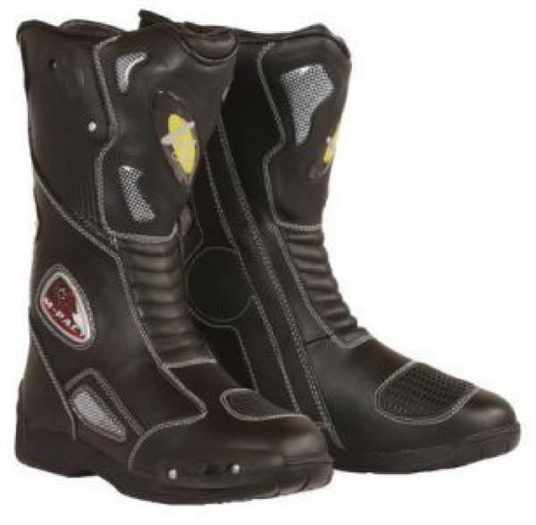 Motorrad Stiefel Sport schwarz wasserabweisend