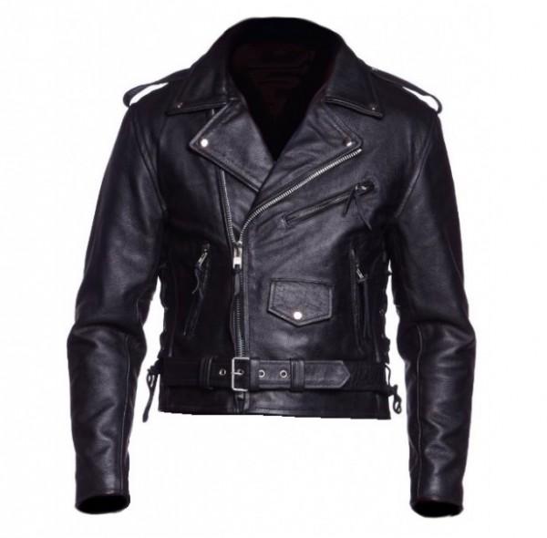 Chopper / Motorrad Lederjacke schwarz