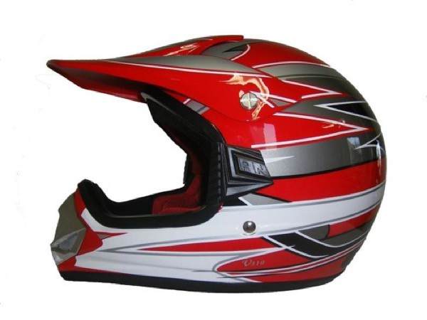 Kinder Crosshelm Racing V310 rot