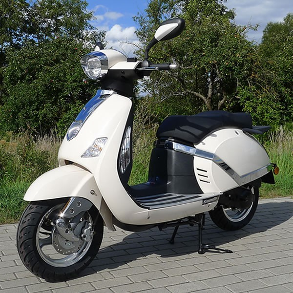 znen retro scooter f8 50ccm 45 km h elektroroller roller. Black Bedroom Furniture Sets. Home Design Ideas