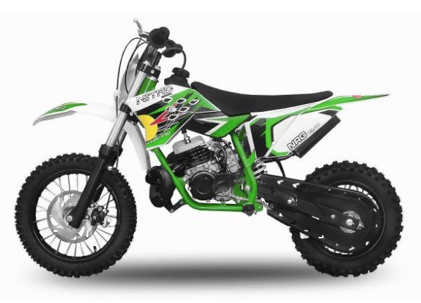 "Dirtbike 49 ccm Nitro NRG 50 12""/10"" New Design 2017 – Bild 1"