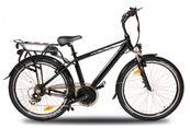 """Elektrofahrrad E-Bike 250 Watt E-GO! ROME Elektro Fahrrad Peddelec 26"""" Mittelmotor Aluminium Rahmen 5-Stufen Speed 001"""